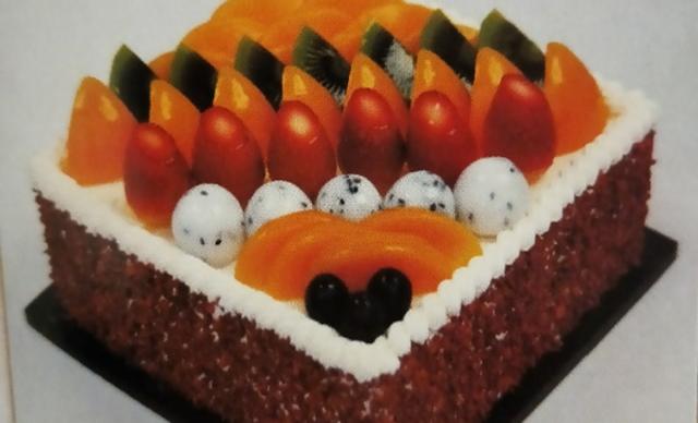 :长沙今日钱柜娱乐官网:【甜之心蛋糕】水果1个,约10寸,正方形