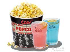 :长沙今日团购:CGV星聚汇影城[银盆岭]爆米花(大桶)+2杯蜜蒂尔1份,提供免费WiFi