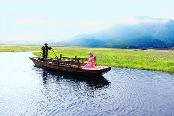 【腾冲县】滇彩腾冲神奇湿地门票+电瓶车+草排+烤鱼套餐成人票-美团