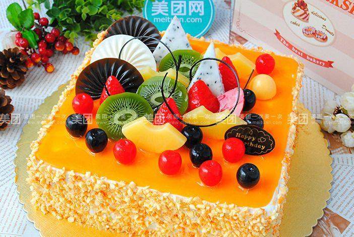 方形水果蛋糕