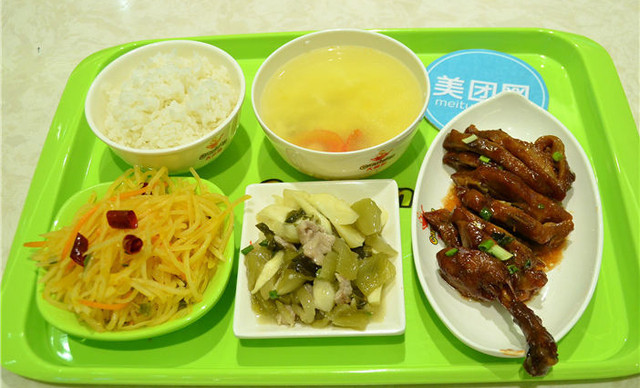 大食堂中式快餐图片