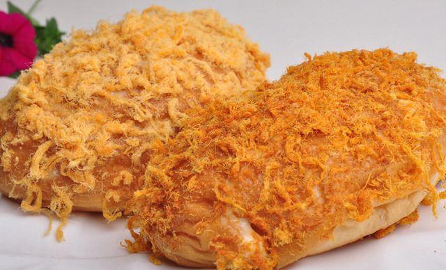 【金蛋糕蛋糕店】肉松黄油1份,菠萝免费,自制提供包间放多少面包图片