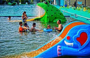 【新都区】海窗水上乐园门票双人票-美团