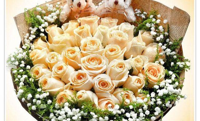 :长沙今日团购:【半票姐花店】爱你如一(21支香槟玫瑰/红玫瑰)1次,提供免费WiFi