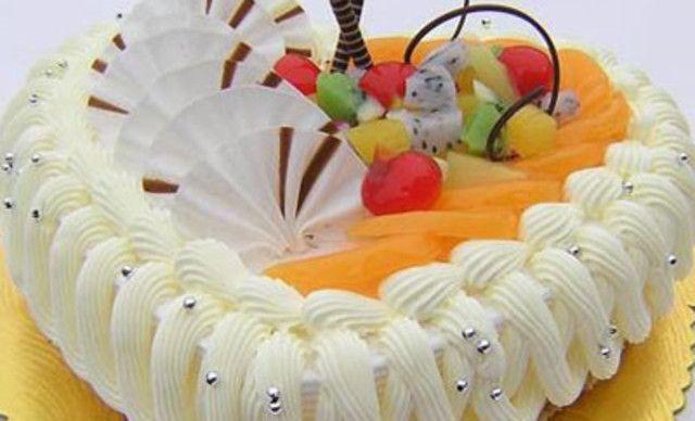 甜蜜物语水果蛋糕,仅售95元!价值228元的水果蛋糕1个,约10英寸,圆形/心形