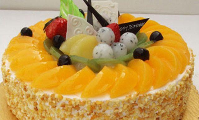 甜蜜物语水果蛋糕,仅售76元!价值158元的水果蛋糕1个,约8英寸,圆形