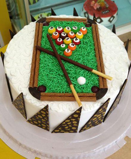 圆形台球蛋糕