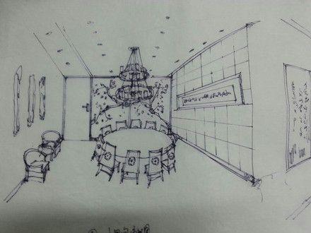 手绘房间结构图