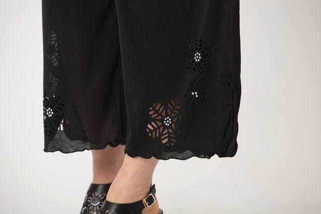 黑色甩裤搭配图片