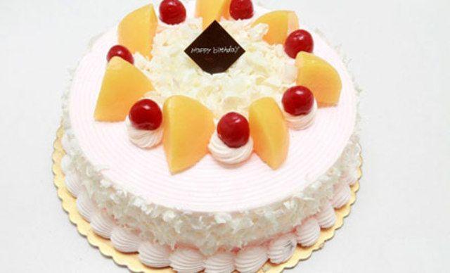 水果蛋糕1个,可免费写字6个