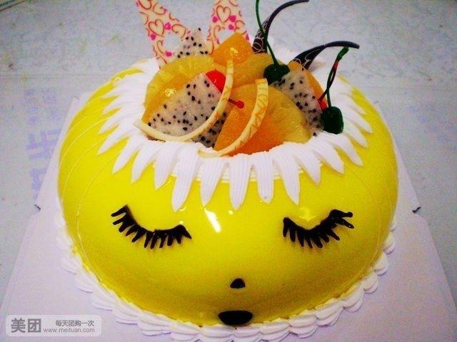 可爱熊手绘蛋糕