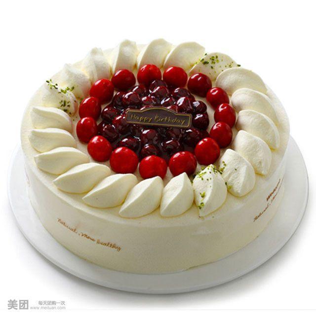 奶油水果冰淇淋蛋糕1个,免费WiFi,到店另付30元可升级 团800柳州