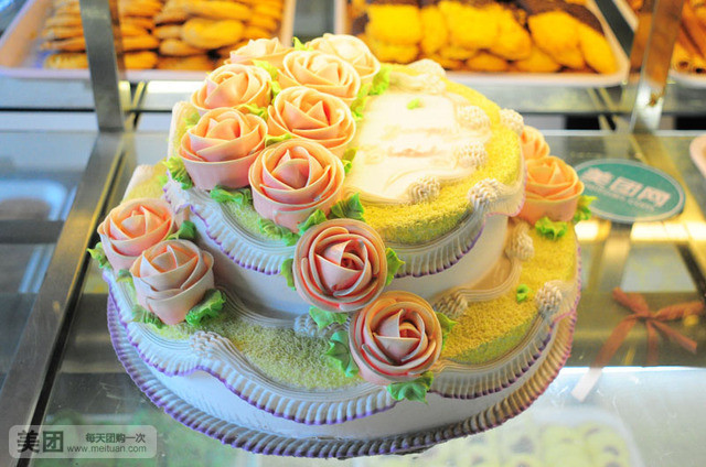 英寸 10英寸双层祝寿蛋糕1个,免费提供包装图片