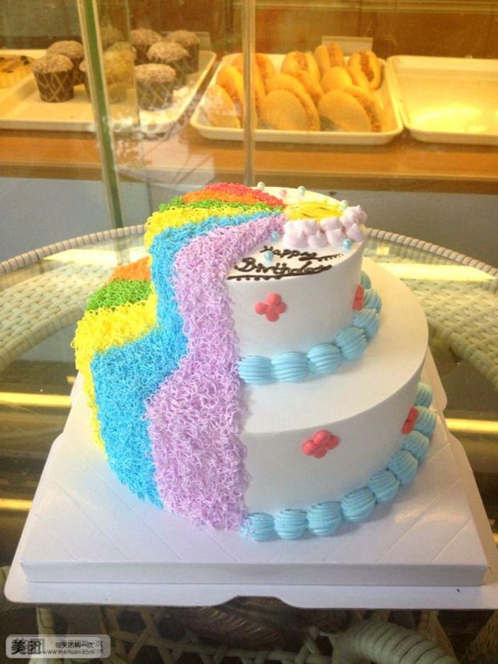 双层彩虹蛋糕图片