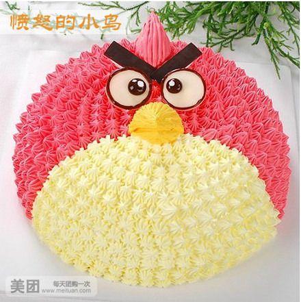 可爱小猪 愤怒的小鸟 寿桃果汇  规格   蛋糕类型