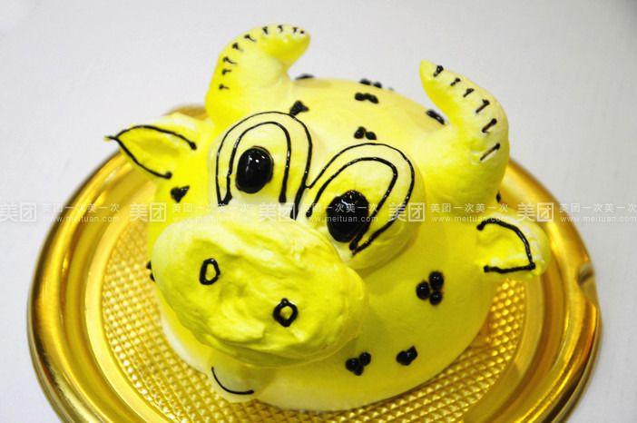 卡通动物小蛋糕1个