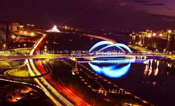 壁纸 大桥 桥 桥梁 夜景 702_426