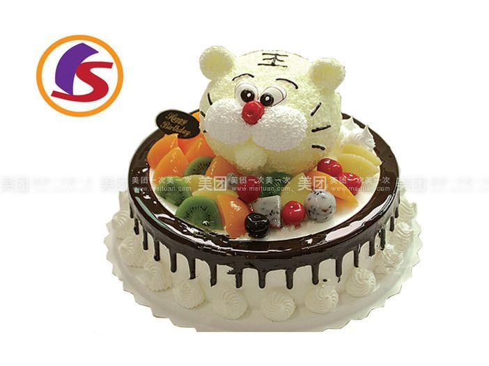 可爱小羊蛋糕图片