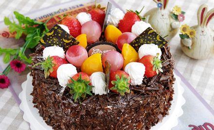 12英寸水果巧克力蛋糕3选1,爱上蛋糕好滋味