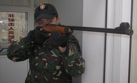 5.6毫米小口径步枪打靶,含10发子弹