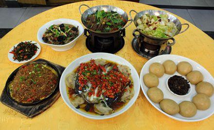 5-6人午餐套餐。品尝正宗湘式风味