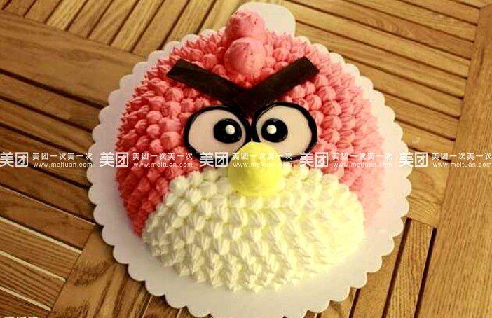 美食团购 甜点饮品 华艺蛋糕   愤怒的小鸟规格:约8 英寸 1,圆形 喜羊