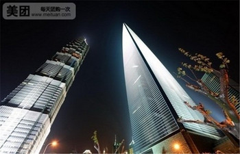 【陆家嘴】上海环球金融中心观光厅94+97+100层观光厅门票+豪华黄浦江夜游船票(成人票)-美团