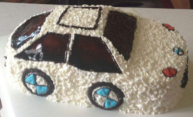 :长沙今日团购:【遇见DIY蛋糕烘焙工作室】汽车蛋糕1个,约8英寸,圆/方