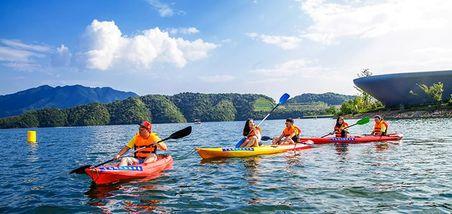 【淳安县】千岛湖欢乐水世界游艇兜风45分钟成人票-美团