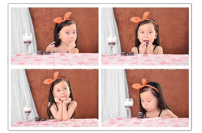 九宫格儿童摄影