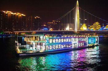 【沿江路沿线/二沙岛】珠江夜游蓝海豚游船-美团