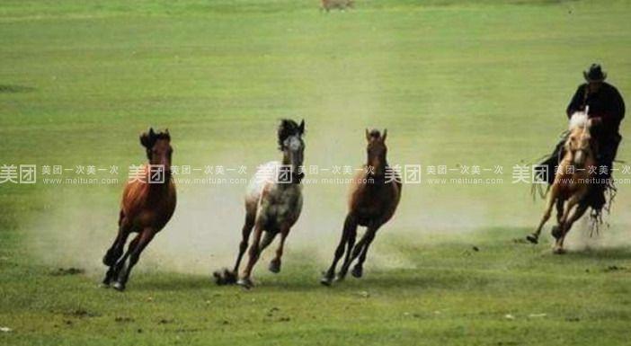 蒙古族骑马手绘
