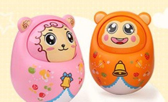 价值38元的不倒翁+生肖拨浪鼓1个,美致春天宝宝幼儿玩具16元包邮!