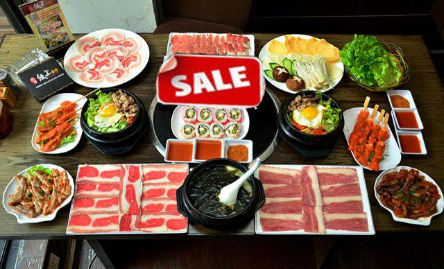 【龙膳纸上烤肉】4人套餐(新),提供免费WiFi