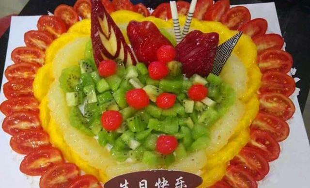 :长沙今日团购:【澳麦多伦】14寸精美水果蛋糕1个,约1个,1