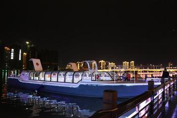 【芷兰】穿紫河游船-20:50夜游演艺船票(成人票)-美团