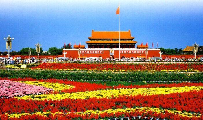 游览世界上最大的城市中心广场-【天安 门广场】(30分钟),【毛主席图片