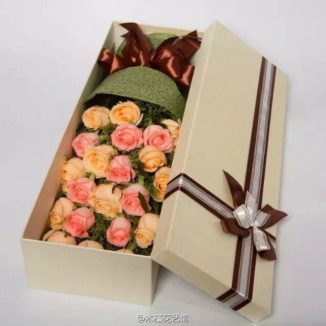 花创意花坊21支玫瑰百合 小熊花束 21支玫瑰礼盒套餐团购优惠券 图