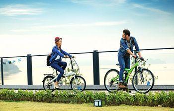 【淳安县】千岛湖环湖骑行双人车1小时成人票-美团