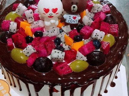 麦兜甜品屋麦兜甜品屋六寸巧克力动物蛋糕1个-北京