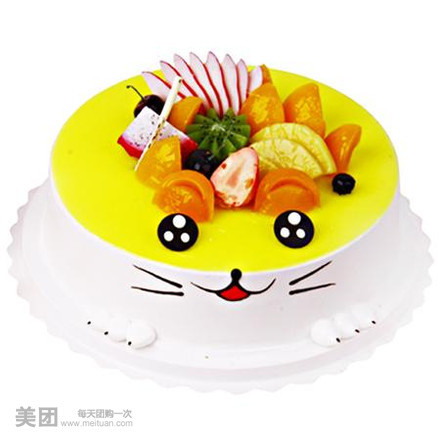 卡通动物蛋糕团购