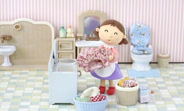 洗衣毛绒玩具手绘图