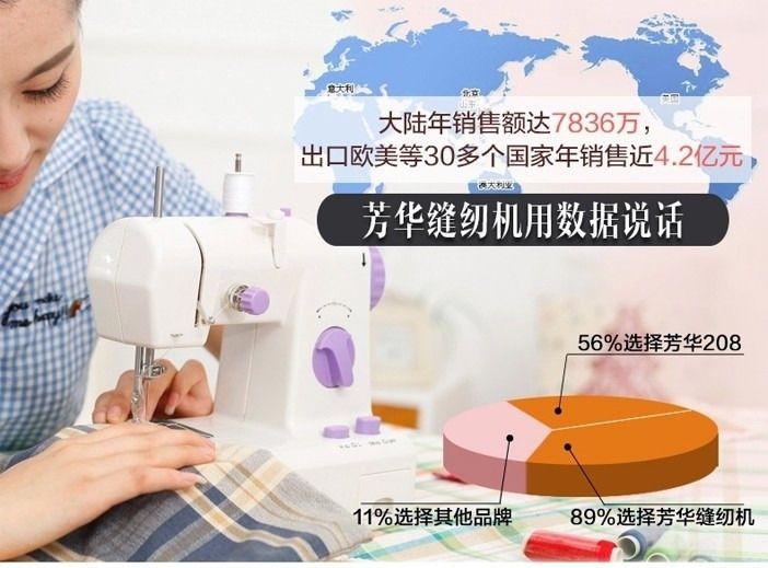 【芳华缝纫机团购】芳华电动多功能缝纫机208团购