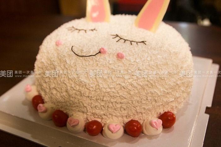 可爱小白兔蛋糕