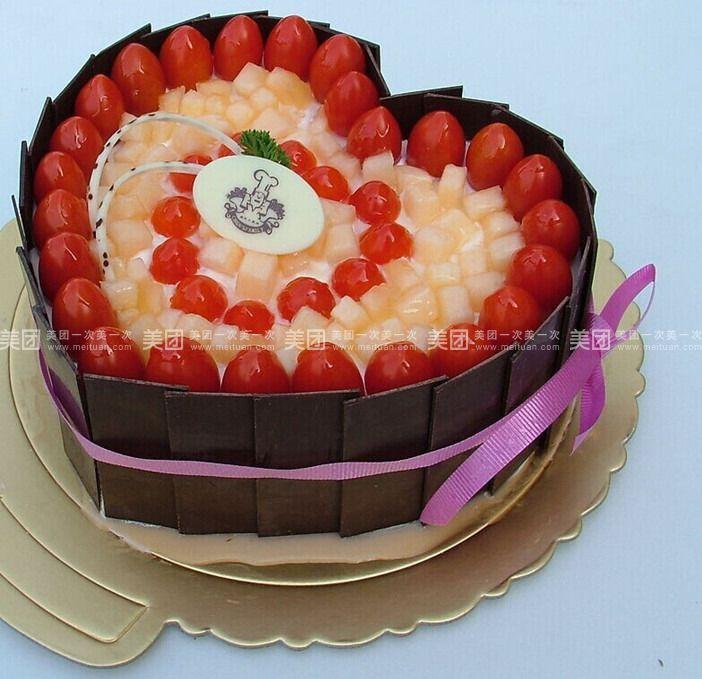 欧式心形蛋糕6磅图片