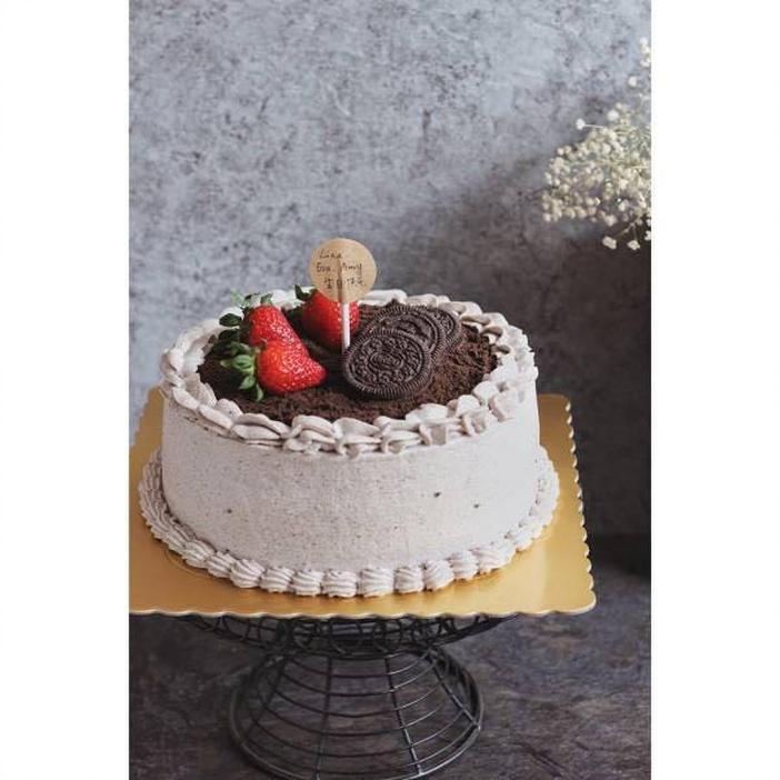 纯奶油蛋糕_6寸咸奶油奥利奥蛋糕(纯动物奶油)