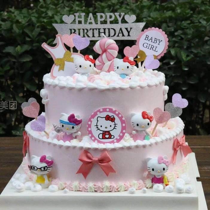 双层小马宝莉儿童创意蛋糕
