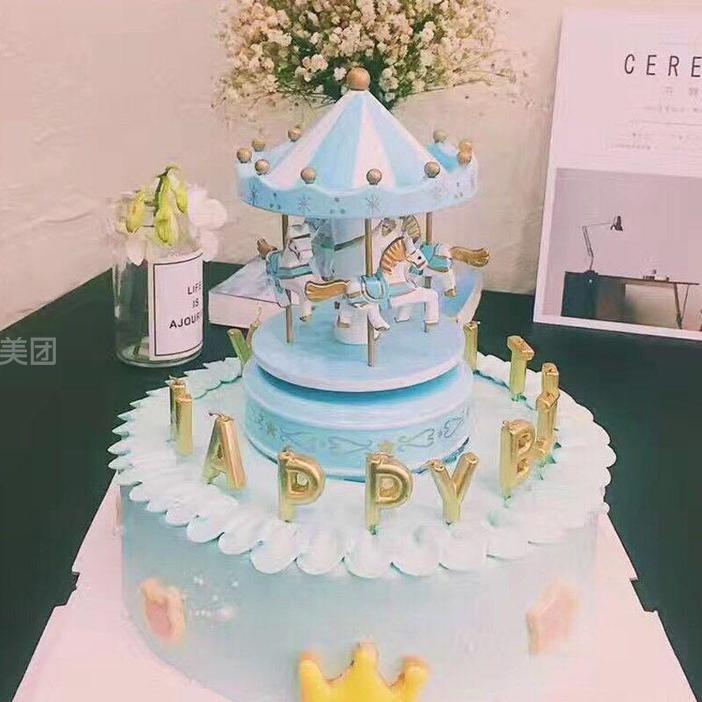 路北区 远洋城 爱慕蛋糕店   蓝色皇冠规格:约 8  英寸 1,厚约 单层