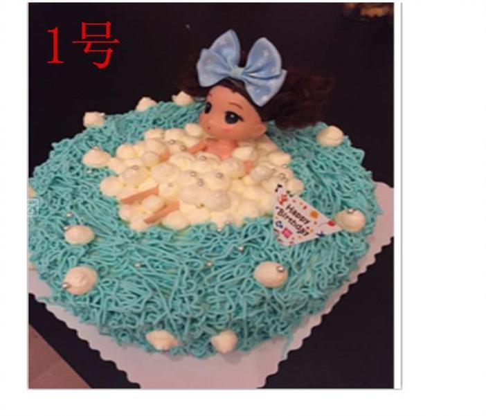 那约文化广场 烈火蛋糕   芭比娃娃蛋糕(沐浴)规格:约 8  英寸 1,圆形