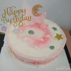纯奶油蛋糕_粉红海底纯动物奶油蛋糕